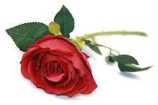 Single Stem Large Red Artificial Rose x 50cm Christmas Wedding Flower