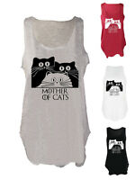 Mother of Cats tank top GOT paw fan art vest cat feline kitten lover singlet