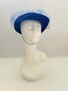 Vintage pink pillbox hat,burlesque,Ascot,weddings, races,church, 50s retro hat