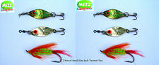 Fly fishing Small One Inch Twister Flies ( 2 Packs)