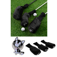 3pcs Golf Head Covers Driver 1 3 5 Fairway Woods Headcovers & Ball Marker