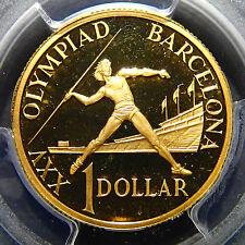 1992 PR69DCAM Australia One Dollar $1 Barcelona Olympics