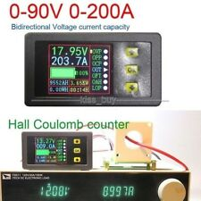 200A Batterie Monitor Halle Coulomb Digital Spannung Strom Power Kapazität Time