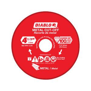 Diablo  4.5 in. Diamond  Metal Cut-Off Wheel  0.039 in.  x 7/8 in.  1 pk