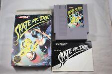 Skate Or Die (Nintendo NES) Complete in Box GREAT