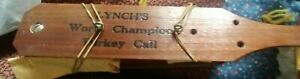 VINTAGE LYNCH'S WORLD CHAMPION 1958 MODEL TURKEY CALL HUNTER HUNTING