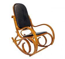Schaukelstuhl | Schwingsessel | Relax-Stuhl | Holz | Kunstleder