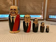 Russian Leaders Nesting Dolls 5 Pc