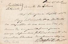 AMIRAL SIDNEY SMITH Billet autographe signé - NAPOLEON BONAPARTE