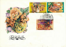 1991 Soviet FDC cover with THREE (3) STAMPS National holidays in three republics