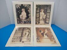 """Complete Set of 4 Louis Icart 11 x 8-1/2"""" Seasons 1928 Art Prints Paris Stamped"""