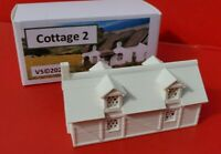 N Gauge Railway Cottage Building 1700s 3D Printed White