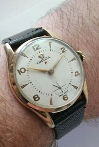 Vintage Omega 2645 Red Star Dial Cal 30T2 Gents Watch