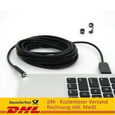 2m/5m/7m Endoskop 6LED USB Rohrkamera Inspektionskamera Endoscope