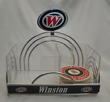 Winston Cigarettes Chrome Retro Napkin Holder Straw Caddy Promotional Bar