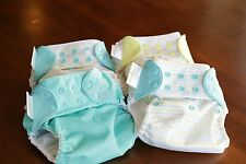 Lot of 4 Bumgenius 4.0 One-Size Pocket Cloth Diapers, Snap Closure