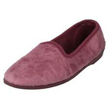 Calzado de mujer planos textil de color principal rosa
