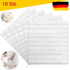 3D Neu Up to 100 tlg Tapete Wandpaneele Selbstklebend Ziegel Wandaufkleber Weiß