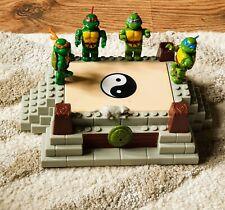 Mega Bloks Teenage Mutant Ninja Turtles ~ All 4 with working Stand