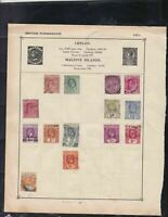 ceylon stamps page ref 17345