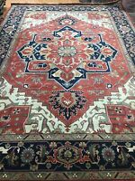 10' x 14' New Indian Ser api Oriental Rug - Hand Made - 100% Wool