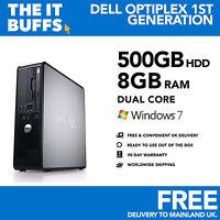 Dell OptiPlex - Dual Core 8gb RAM 500GB HDD Windows 7 - Escritorio Pc Ordenador