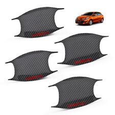 Door Handle Bowl Insert Cover Carbon Red For Toyota Yaris Hatchback 2018 2019