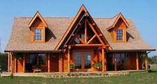MODULAR LOG HOME. CAPE COD. 2 DORMERS, Log siding with full log corners included