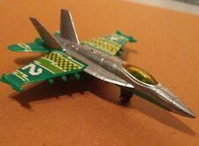 2007 Matchbox  F/A-18E Super Hornet Green/White/Yellow/Grey Jet