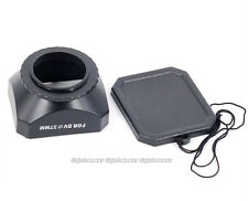 Rectangular 37 mm lens hood with cap for DV Camcorder
