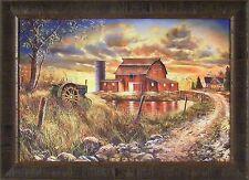 MEMORIES PAST by Jim Hansel S/N L/E John Deere Tractor Farm 24x33 FRAMED PRINT