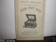 CRITERION MUSIC BOX OPERATING, OILING & REPAIR MANUAL BOOKLET