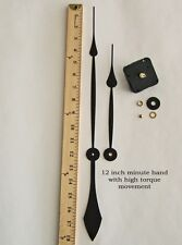 "Make a Large 24""+ Clock w/ 12"" Hands & Silent Sweep Motor for dials up to 1/2"""