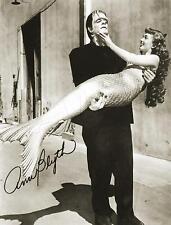 HOLLYWOOD Actress MERMAID & FRANKENSTEIN Vintage PHOTO *CANVAS* Art PRINT