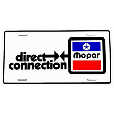 Mopar Direct Connection License Plate New 70's Dodge Plymouth Chrysler 1970s