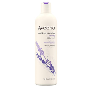 Aveeno Positively Nourishing Calming Body Wash with Lavender, Chamomile  Ylang-