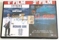 IL DOTTOR T & LE DONNE + U-429 SENZA VIA DI FUGA 2 FILM IN 1 DVD ITALIANO OTTIMO