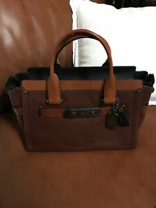 Coach color block Swagger retail $550