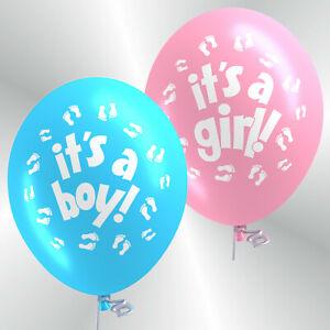 Premium Luftballons Geburtstag 30 / 50 Its A Boy / Its A Girl Geburt Kind Bio