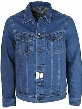 Ex Lee Men's Denim Jacket Jean Coat Classic Western Trucker Vintage Size M-XL UK