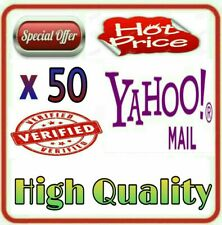 50 Yahoo Mails Verified by Phone Numbers - High Quality