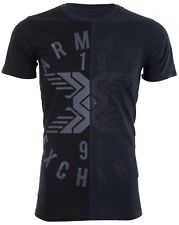 Armani Exchange SPLIT UP Mens Designer T-SHIRT Premium BLACK Slim Fit $45 NWT