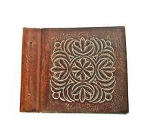 Vintage large leather photo album Handmade High quality leather Family scrapbook