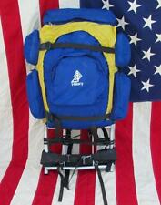 Vintage Hillary External Frame Nylon Backpack Hiking Mountaineering Pack Camping