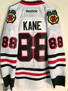 REEBOK NHL PREMIER CHICAGO BLACKHAWKS PATRICK KANE MEN'S JERSEY WHITE SIZE XL