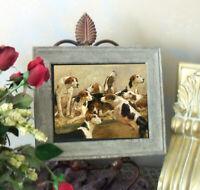 SALE Blinks Brocklesby Fox Hounds Hunt Dog Print Antique Framed 11X13