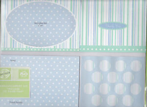 NEW GARTNER 50 COUNT BLUE ANNOUNCEMENT KIT FOR BABY BOY PLUS 50 THANK YOU&SEALS