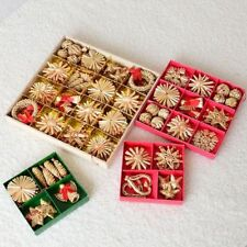 New Christmas Tree Ornaments Creative straw Fabric Christmas Gifts Home Decor