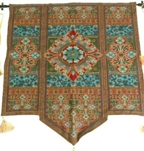 Tapestry Vintage European Old World Floral Medallion French Italian Motif