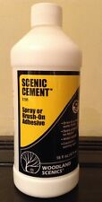 Woodland Scenics S191. Scenic Cement. Spray Or Brush On Adhesive. 16fl oz Bottle